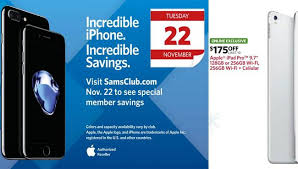 iphone 6s black friday sale sam u0027s club black friday 2016 deals on apple ipad and iphone