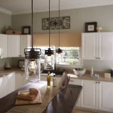 kitchen pendant lighting lowes allen roth vallymede 7 7 in olde bronze multi pendant light with