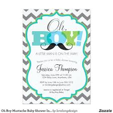 Invitation Cards For Baby Shower Templates Oh Boy Mustache Baby Shower Invitation 5