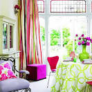 Bright Living Room with Colorful Furniture Decoration - Home ...