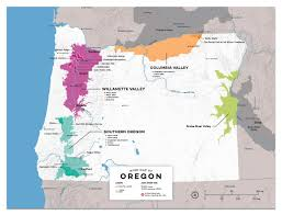 Oregon Map by Detailed Map Of Wine Regions In Oregon Usa Wine Posters Wine