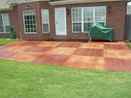 Backyard Cement Patio Ideas by Triyae Com U003d Backyard Stamped Concrete Patio Ideas Various