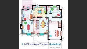 742 Evergreen Terrace Floor Plan La Casa De Los Simpson En Springfield Mirá El Plano De Avenida