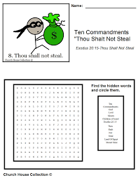 church house collection blog thou shalt not steal word search