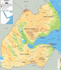 Physical Map Africa by Map Of Africa Djibouti Deboomfotografie