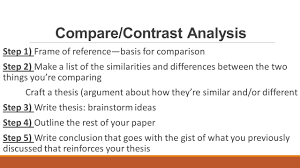 examples of contrast and compare essays