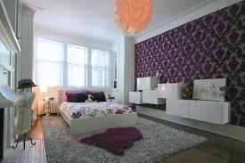 Black And Purple Bedroom Wallpaper House Design Ideas - Girls bedroom wallpaper ideas