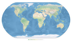 Colored World Map by Physical Map Of The World