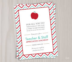 Retirement Function Invitation Card Teacher Appreciation Invitation Printable Teacher Thank You