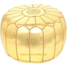 Footstools Ottomans by Amazon Com Moroccan Poufs Leather Luxury Ottomans Footstools Gold