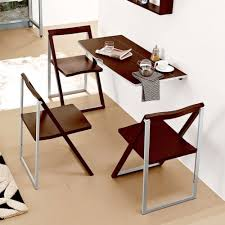 drop leaf table wall mounted wooden back rest bar stools bronze