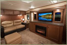 front living room 5th wheel travel trailers home decorations ideas