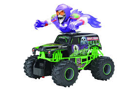 grave digger monster truck song amazon com new bright f f monster jam bursts grave digger rc