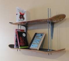 skateboard bookshelf skateboard decks dorm and decking
