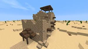 Small House Build Minecraft Desert Modest House Build Youtube