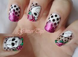 skull nail designs get yo nails did biiihhh pinterest skull