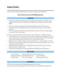 Junior Accountant Resume Sample by Resume Examples For Cost Accountant Templates