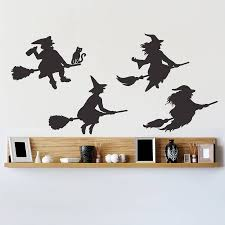halloween wall art halloween witches wall sticker set by oakdene designs