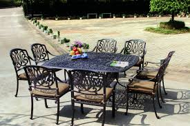 amazon com darlee elisabeth cast aluminum 9 piece dining set
