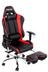 Gaming Desk Accessories by Amazon Com Merax Ergonomic Series Pu Leather Office Chair Racing