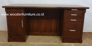 teak minimalist desk indonesia teak wood office furniture buy
