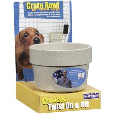 happy home pet products crate bowl for small dogs 1 ct walmart com