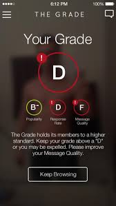 The Grade  a new dating app  scores users on their profiles  message quality