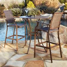 Wood Patio Furniture Sets - furniture ideas high patio set with two wooden patio chair and