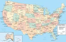 Unite States Map by States Cities Maps