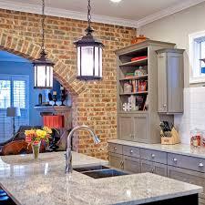 exposed brick kitchen design u2014 toulmin cabinetry u0026 design