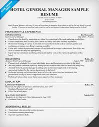 Sample Test Manager Resume by Hotel General Manager Resume Resumecompanion Com Resume