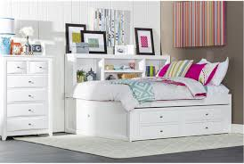 Full Size Trundle Bed Frame Perfect For Storage And Saving Space Varsity White Full