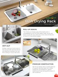 Plastic Dish Drying Rack Amazon Com Lifewit 20 4 X 13 3in Dish Drainer Over Sink Roll Up