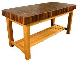 kitchen butcher block rolling island butchers block table