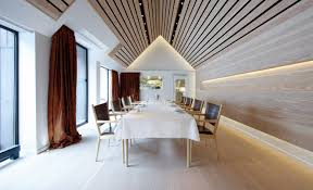 Wood Slat by Wood Slat Ceiling Interior Design Ideas