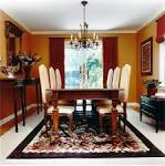 Interior: Elegant Crystal Pendant Lamp With Vintage Wood Dining ...