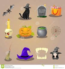 halloween accessories halloween set with witch accessories stock vector image 44782472