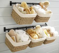 Pottery Barn Bathroom Storage build your own hannah basket wall system pottery barn