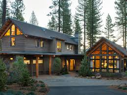 Log Cabin Style House Plans Modern Mountain Architecture Hgtv Cabin And Stone Driveway