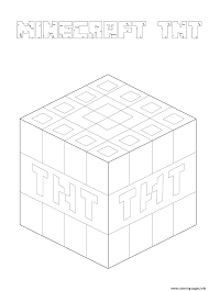 minecraft tnt coloring pages printable