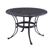 Black Wrought Iron Patio Furniture Sets by 48 Inch Round Black Metal Outdoor Patio Dining Table With Umbrella