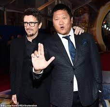 Pals  Scott Derrickson and Benedict Wong appeared to be having a good time