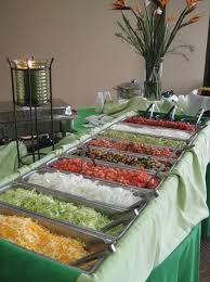 Wedding Reception Buffet Menu Ideas by One Bride Had A Fully Stocked Taco Buffet I Do Pinterest