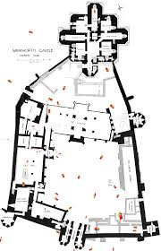 Castle Floor Plan by Warkworth Castle Northumberland Ground Plan