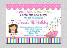 Reunion Cards Invitation Cooking Birthday Party Invitation Cooking Baking Birthday