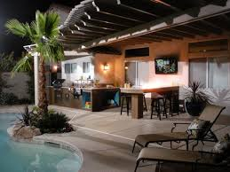 worthy backyard designs with pool and outdoor kitchen h97 for home
