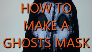ghost face mask military how to make a ghost mask ghost mask tutorial youtube