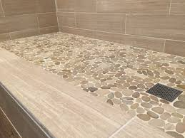 sliced java tan pebble tile shower floor pebble tile shop