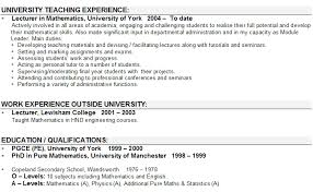 Cv Chronological Order Cvs And Applications Preparing Your Cv How Chronological Order Of Education On Resume