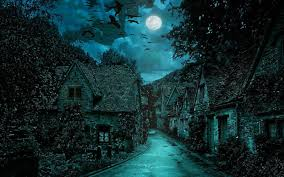 scary moon background beauty of moonlight at night sky near sea poetic nature images